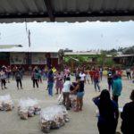Donación para 85 familias de la UE de Juan Javier Espinoza